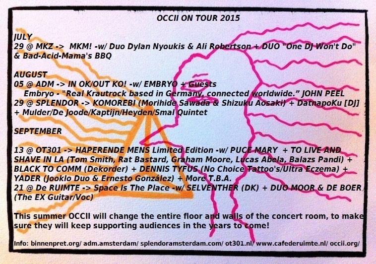 OCCII TOUR 2015 summer