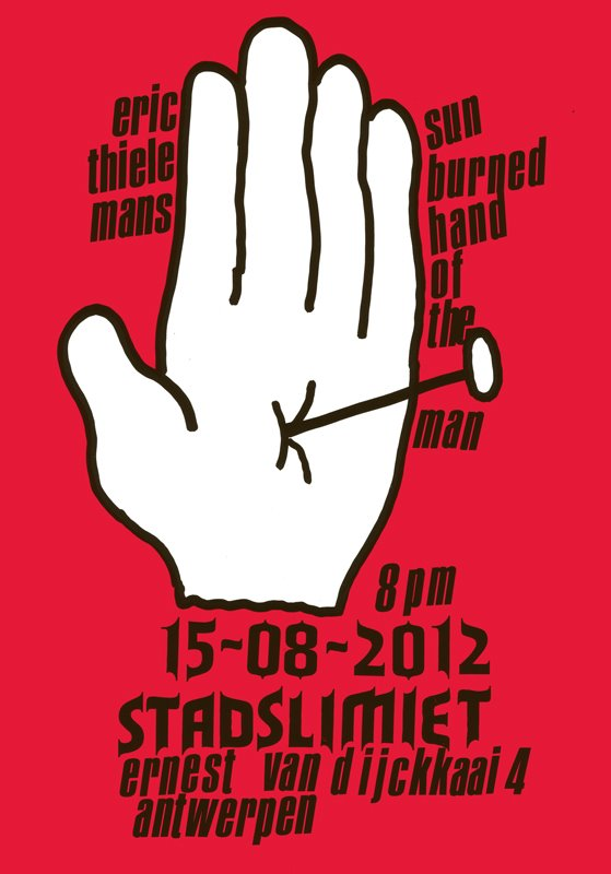 flyer and small poster by Vaast Colson and Dennis Tyfus, for the first night at Stadslimiet!
